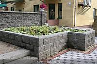 Блок декоративный (двусторонний скол) серый