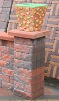 Блок малый декоративный для столба (двухсторонний скол) колор-микс