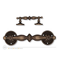 Мебельная ручка-скоба  ENRICO CASSINA 423, античная бронза