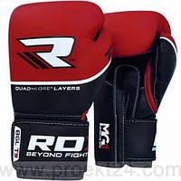 Боксерские перчатки RDX Quad Kore Red-10oz, фото 1