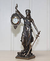 Подарочная статуэтка Veronese Богиня правосудия Фемида с часами 76754A4