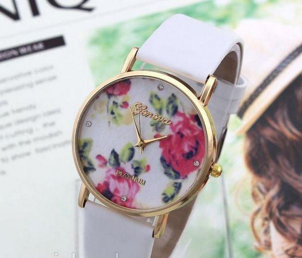 часы с цветами