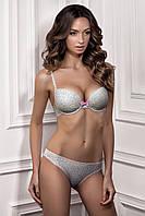 Нежный серо-розовый комплект белья PATY 1120/73 ENRICA 2125/73 Jasmine Lingerie