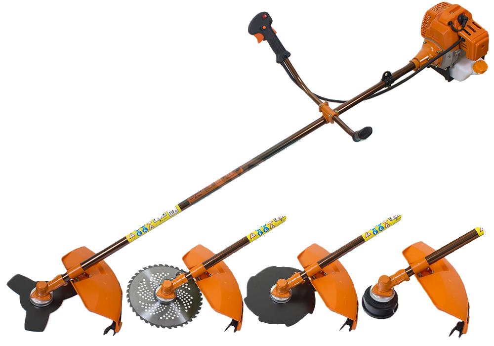 Мотокоса Урал БК-3650 (3 ножа 3-х лоп, 8-ми лоп и 40-а лоп с победитом+1 шпули)