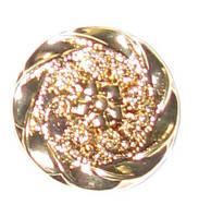 Пуговицы металлизированные стилизованный цветок 28 мм