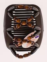 Заколка для прически African butterfly Beada 007 коричневая