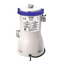 Насос для бассейна BestWay 58117: объем емкости до 15 000 л, 3028 л/ч, 2 форсунки, 4 хомута, шланг