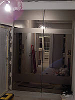 Шкаф купе на заказ Premium Starke Бронзовое зеркало с пескоструем