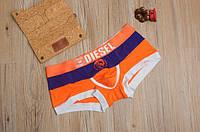 Мужские трусы боксёры Diesel, оранжевые, фото 1