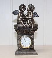 Каминные (настольные) часы Veronese Секреты ангелов 20 см 74559A4 с бронзовым покрытием