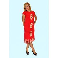 Очень красивое  женское платье красного цвета
