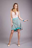 Стильная женская гипюровая юбка