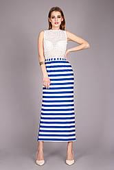 Очень стильная женская юбка в полоску