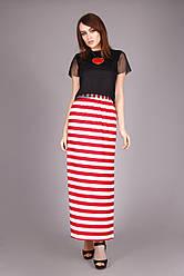 Модная летняя женская юбка красного цвета