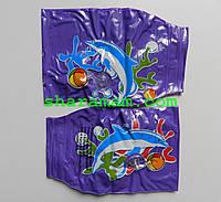 Нарукавники для плавания «Дельфин» 22×14 см фиолетового цвета