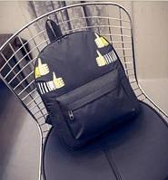 Рюкзак черный аниме Ок.