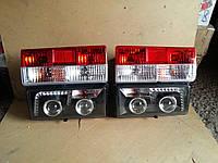 Передние+задние фары на ВАЗ 2107 №3 черные.