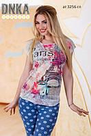 Женская футболка турция ат 3256 гл