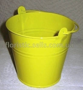 Ведерко 14/13 см, желтое
