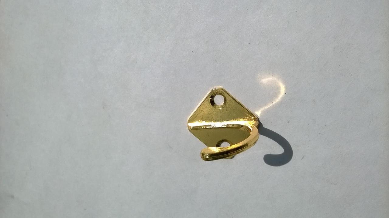 Меблевий гачок одинарний золото