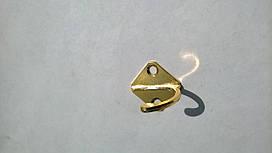 Мебельный крючек одинарный золото 0316