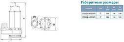 Насос дренажный Aquatica V1500F 1.5кВт Hmax 22м Qmax 270л/мин, фото 3