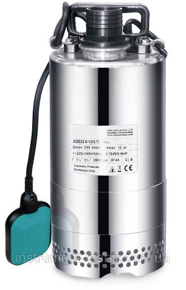 Насос дренажный Aquatica XQS13-9/0,35i 0.4кВт Hmax 9м Qmax 216л/мин (нерж.)
