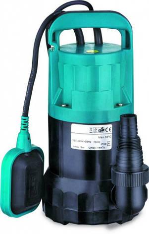 Насос дренажный Leo XKS-400P 0.4кВт Hmax 8м Qmax 150л/мин, фото 2