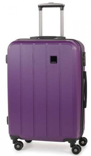 Модный пластиковый 4-колесный чемодан 62 л. Members Nexa (M), 922592 фиолетовый