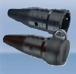 Розетка резиновая с заземлением с фиксатором для подключения,16A Ампер, 2P+E три полюса, 250В, цена купить