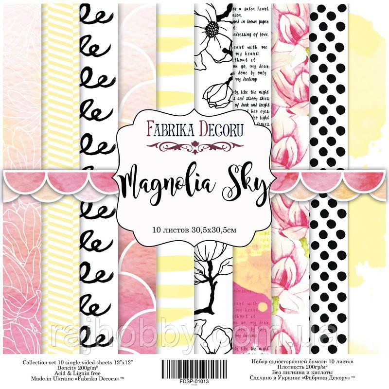 """Фабрика Декору Набор скрапбумаги """"Magnolia Sky"""", 30,5 Х30,5 см"""