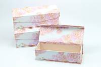 """Подарочные коробки с откидной крышкой """"Нежные цветы"""" (3 размера)"""