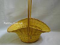 """Большая желтая корзина """"шляпка"""" №1"""