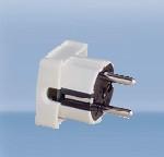 Штекер, термопласт с мультизаземлением 16A Ампер, 2P+E три полюса, 250В, цена купить, белый