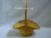"Средняя желтая корзина ""шляпка"" №2"
