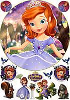 Вафельная картинка для тортов Принцесса София 22