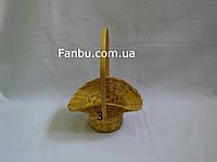 """Маленькая желтая корзина """"шляпка"""" №3"""