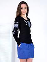 Романтическая вышитая блуза с длинным рукавом, фото 1