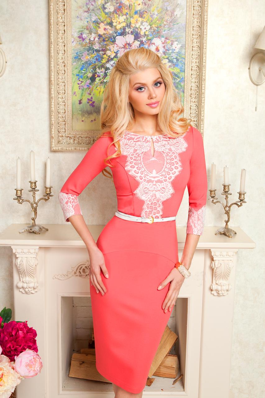 Купить Стильное платье футляр с кружевом 177 в Киеве от компании ... ab5d81aa41a