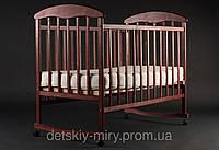 Детская кроватка Наталка Темная (Ясень) на дуге.