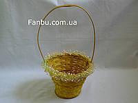 Средняя корзина  с рюшами,цвет желтый
