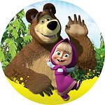 Вафельная картинка для тортов Маша и Медведь 25