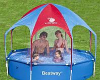 Bestway Бассейн 56432 каркасный 244х51см с навесом, душем