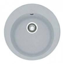 Мийка кругла на кухню ГРАНІТ 51*51 см ADAMANT SUN світлий сірий 8694