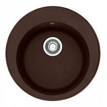 Кухонна мийка кругла граніт 51*51 см ADAMANT SUN Коричневий 8695