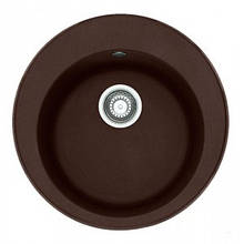 Кухонная мойка круглая гранит 51*51 см ADAMANT SUN Коричневый 8695