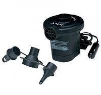 Электрический насос дорожный Intex 66626, 12В, мощность 78Вт, 600л/мин, 3 переходника в комплекте
