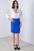 Женская блуза с вышитой калиной