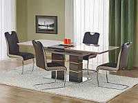 Стол обеденный деревянный LORD темно-коричневый/светло-коричневый Halmar