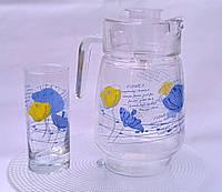 "Набор кувшин со стаканами ""Цветы"""